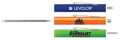 Promotional Reversible Blade Pocket Screwdriver with Standard Top