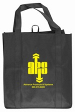 Black Grocery Tote Bag
