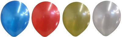 11 Inch Balloon Metallic Colors