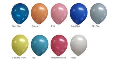 9 Inch Balloon Colors