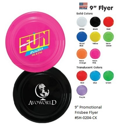 9 inch Frisbee with Custom Message Imprinted