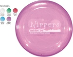 Nine Inch Translucent Frisbee Flyer with Custom Message Imprinted
