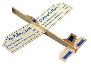 9-inch Wood Glider Airplane with custom imprint
