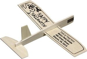 Wooden Glider Airplanes with custom message imprinted