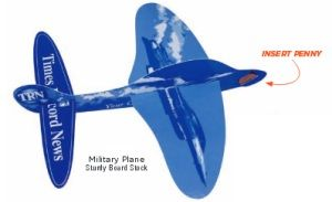 Military Penny Paper Airplane